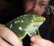 Yaqaga RFisher with Female Iguana