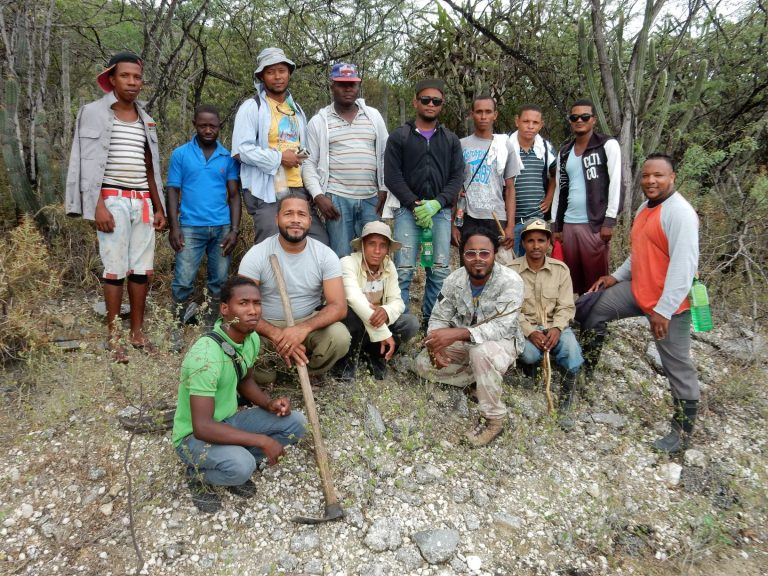 Restoration team in southern Lake Enriquillo, July 2018. By Hector Andujar.
